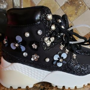 Betsey Johnson  Abel  fashion  high top  sneakers